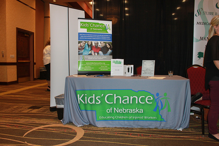 Kids' Chance Booth at Symposium
